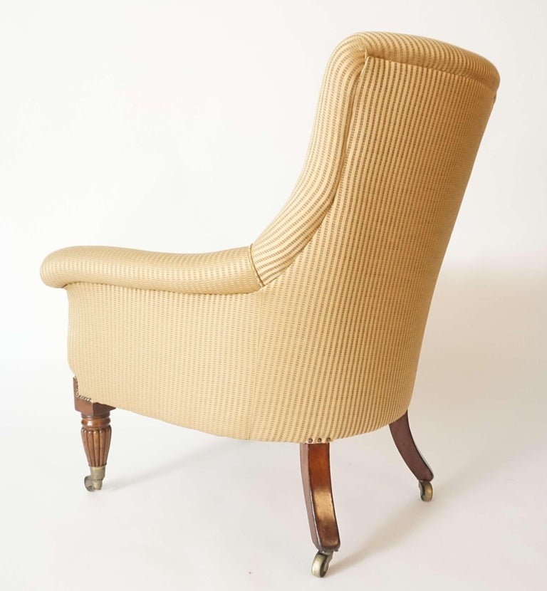 English Regency Upholstered Armchair of Large Size, circa 1830 For Sale 5