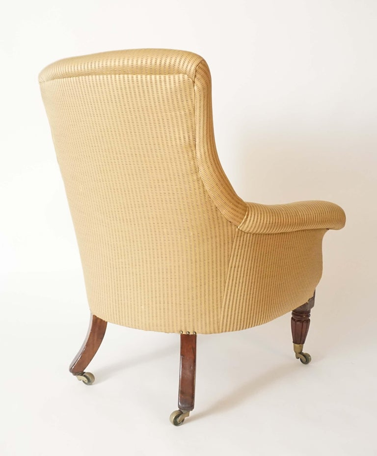 English Regency Upholstered Armchair of Large Size, circa 1830 For Sale 6