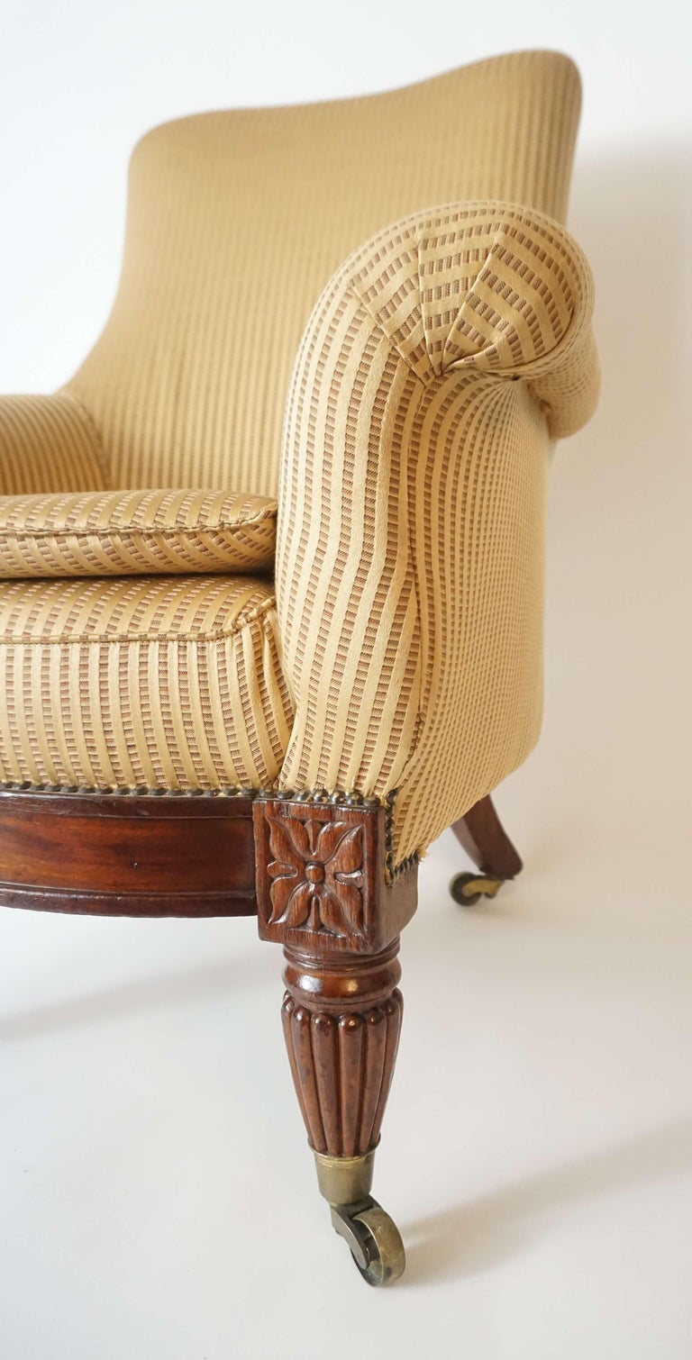 English Regency Upholstered Armchair of Large Size, circa 1830 For Sale 1