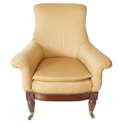 English Regency Upholstered Armchair of Large Size, circa 1830