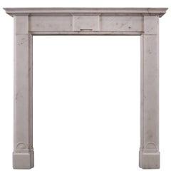 English Regency White Marble Fireplace