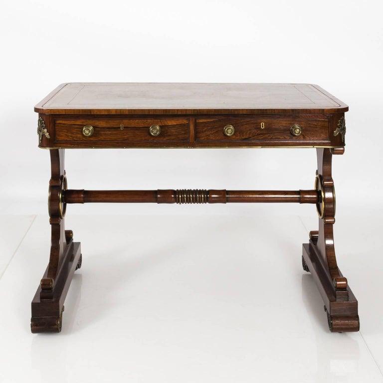 English Regency Writing Table, circa 1820 For Sale 8