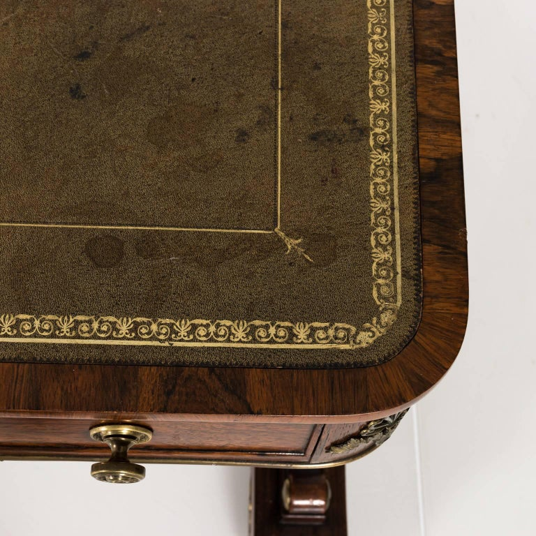 English Regency Writing Table, circa 1820 For Sale 12