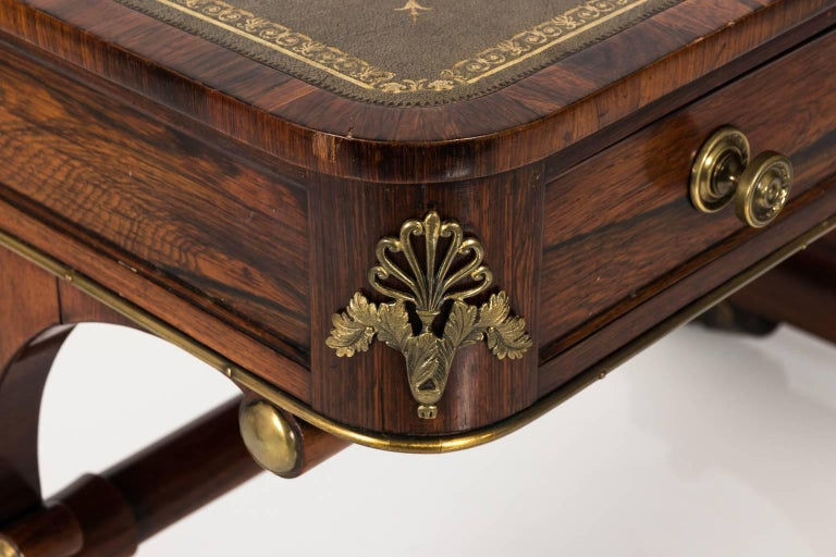 English Regency Writing Table, circa 1820 In Good Condition For Sale In Stamford, CT