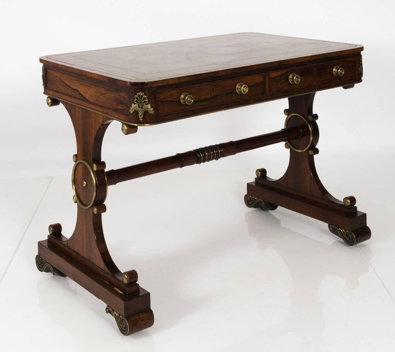 19th Century English Regency Writing Table, circa 1820 For Sale