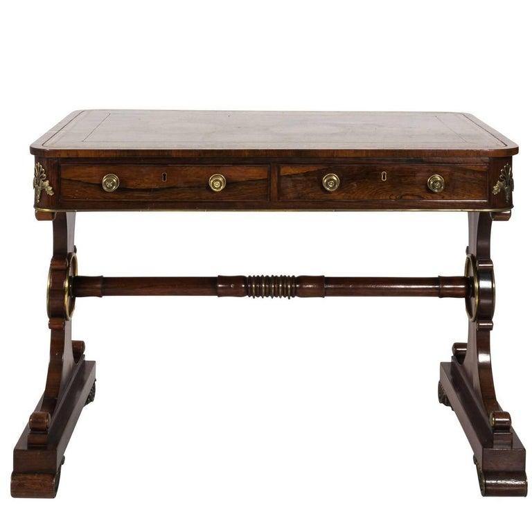 English Regency Writing Table, circa 1820
