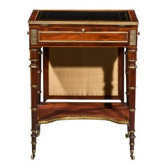 English Regency Writing Table or Small Desk Attributed to John Mclean