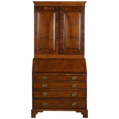 English 19th Century George III Style Drop Front Secretaire