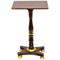 English Rosewood and Gilt Occasional Table