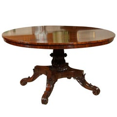 English Rosewood Center Hall Table