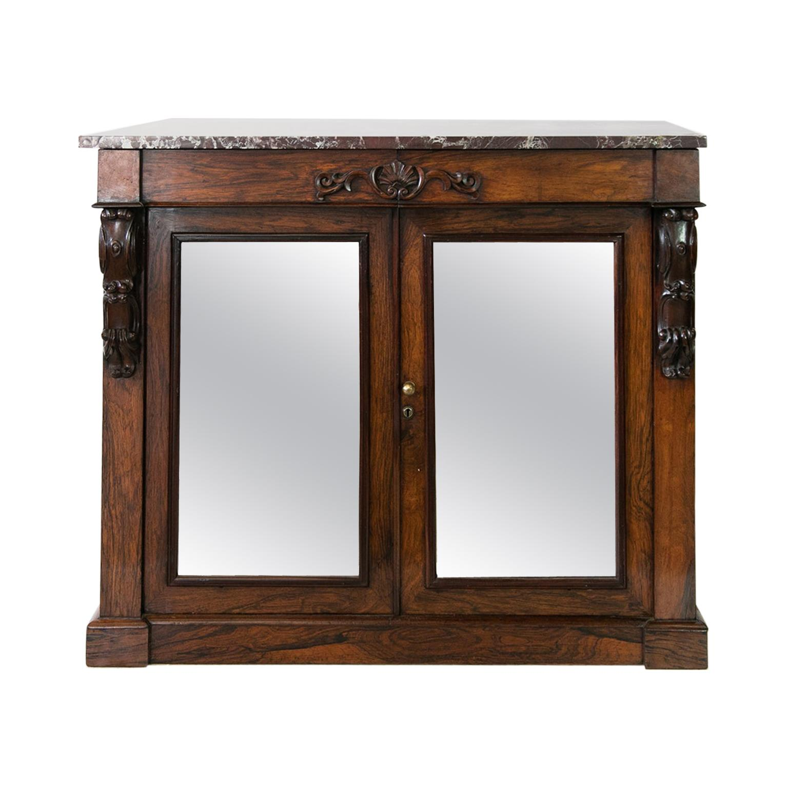 English Rosewood Console Cabinet
