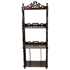 English Rosewood Four Tier Display Shelf