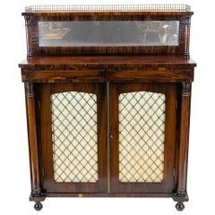 English Rosewood Regency Cabinet