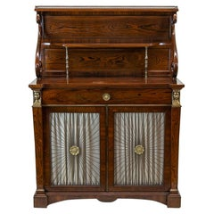 English Rosewood Regency Style Console