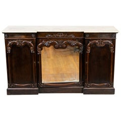 English Rosewood William IV Breakfront Console Cabinet