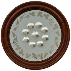 English Round Sorcerer's or Bullseye Convex Mirror