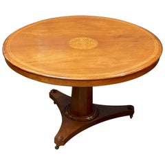 English Round Tilt-Top Center or Breakfast Table of Mahogany