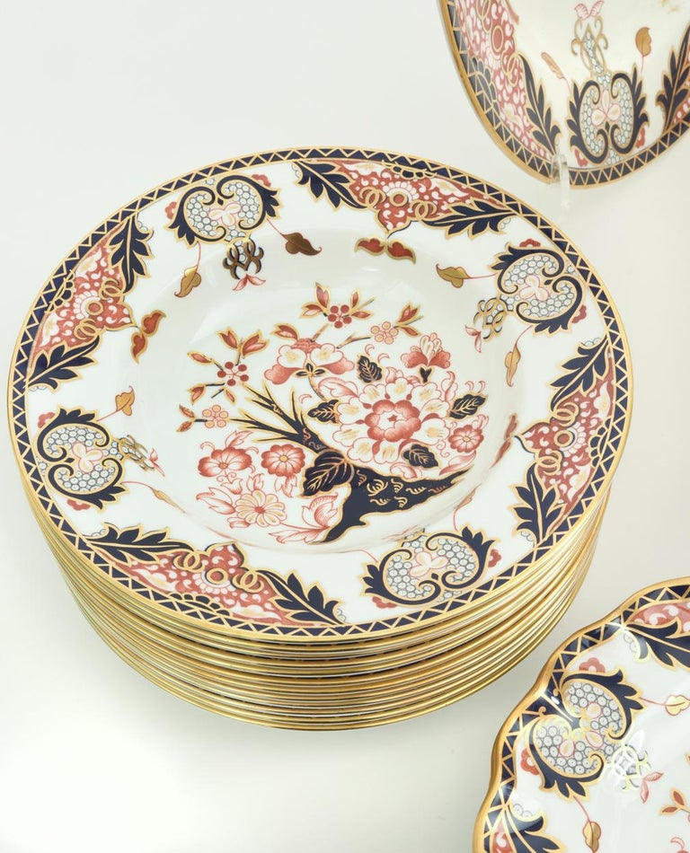 English Royal Crown Derby Complete Service for Twelve People For Sale 5
