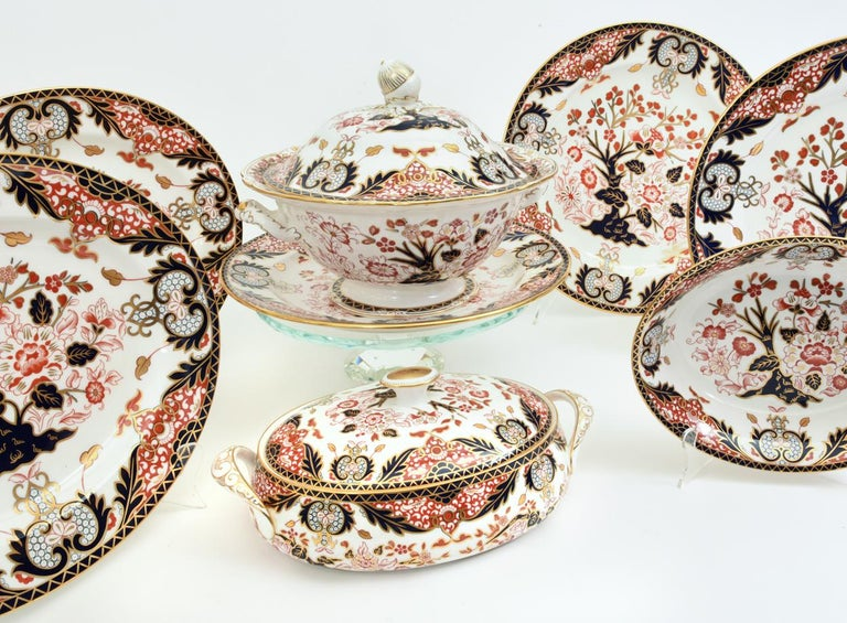 English Royal Crown Derby Complete Service for Twelve People For Sale 7