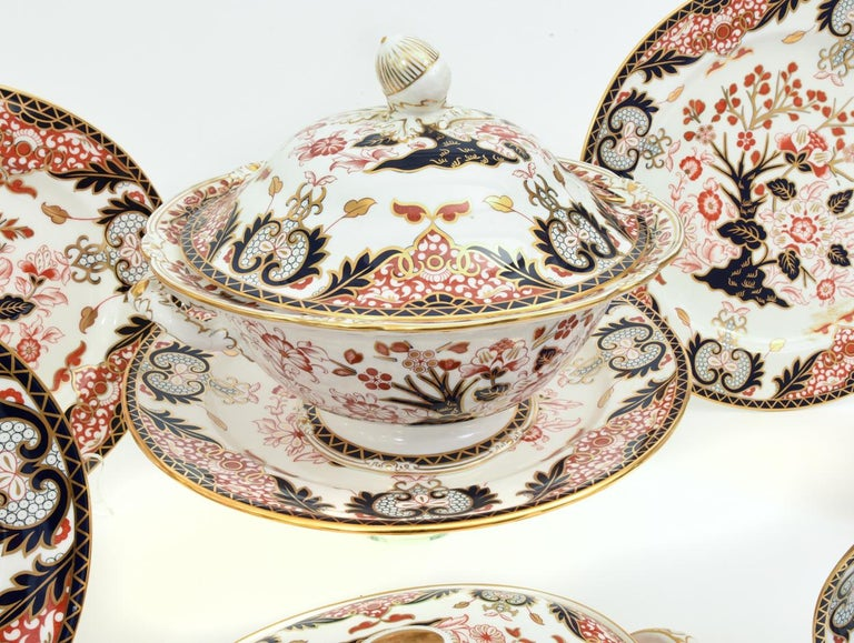 English Royal Crown Derby Complete Service for Twelve People For Sale 9