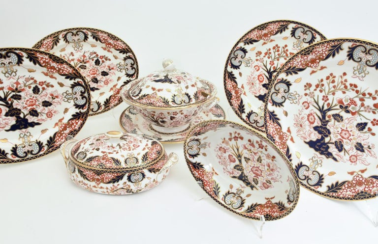 English Royal Crown Derby Complete Service for Twelve People For Sale 10