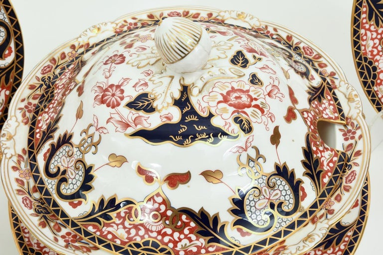 English Royal Crown Derby Complete Service for Twelve People For Sale 11
