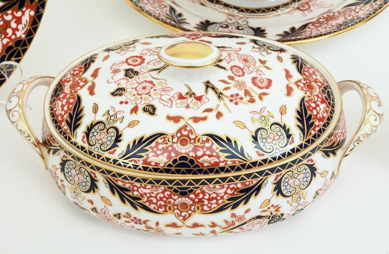 20th Century English Royal Crown Derby Complete Service for Twelve People For Sale