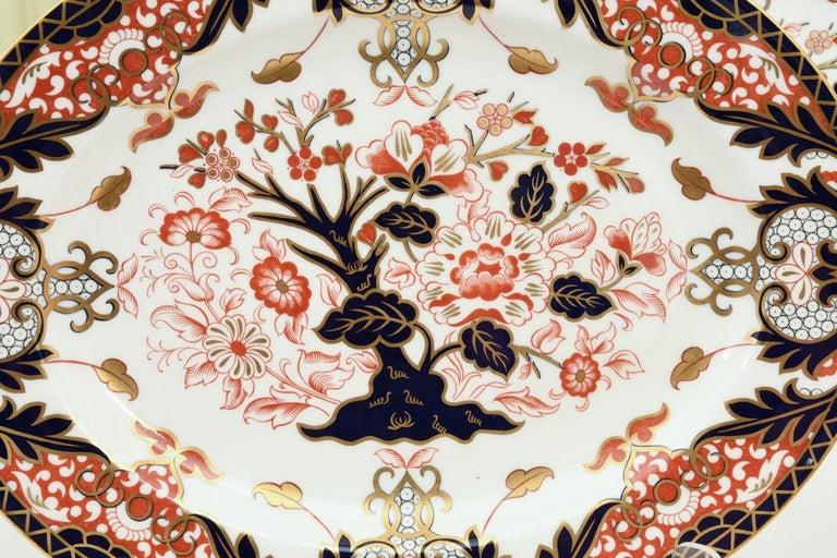 Porcelain English Royal Crown Derby Complete Service for Twelve People For Sale