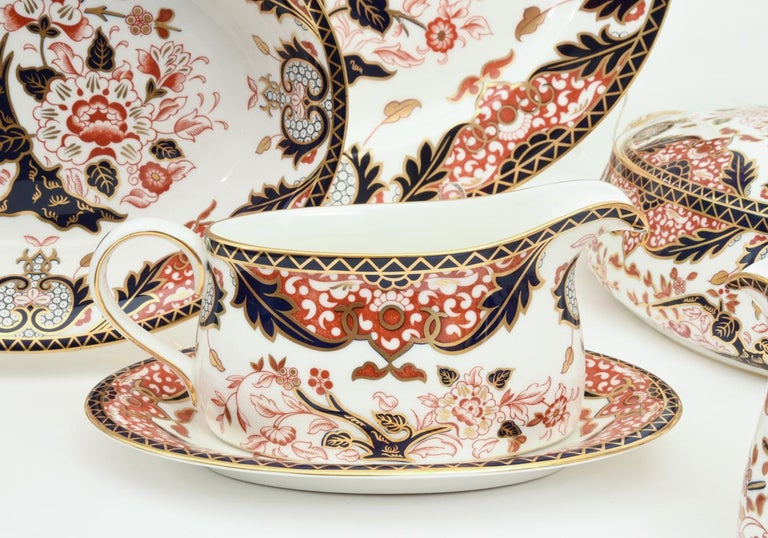 English Royal Crown Derby Complete Service for Twelve People For Sale 3