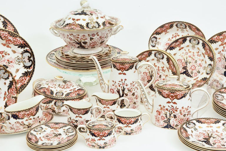 English Royal Crown Derby Complete Service for Twelve People For Sale 4