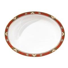 English Royal Crown Derby Oval Porcelain Platter with Cloisonné A 1317 Pattern