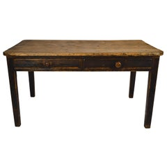 English Rustic Pine Farmhouse Table