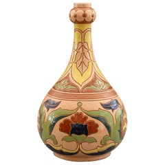 English Salopian Rhodian Iznik Pattern Art Pottery Vase No. 6