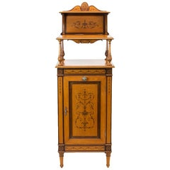 English Satinwood Cabinet or Étagère