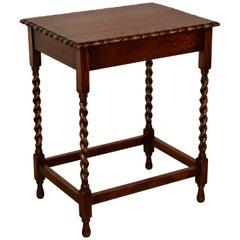 English Scalloped Side Table, Circa 1900