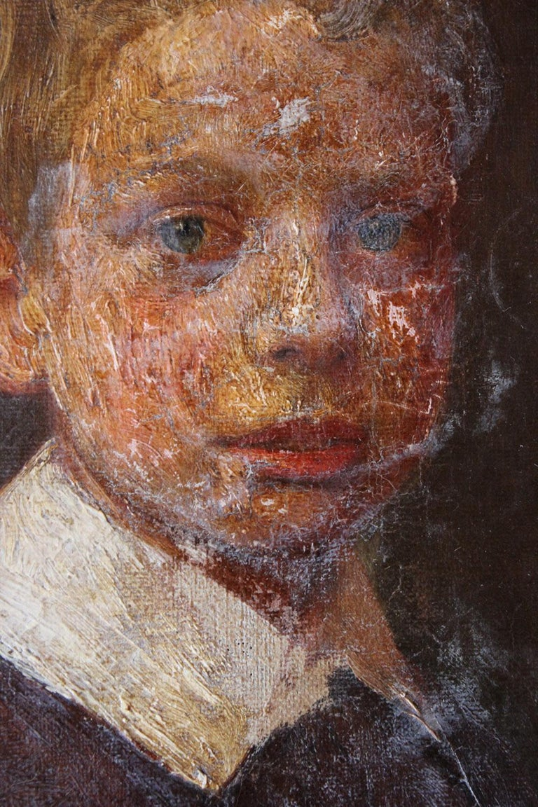 English School Oil on Canvas Portrait of Ronald C. Pilsbury by Harry C. Pilsbury For Sale 5