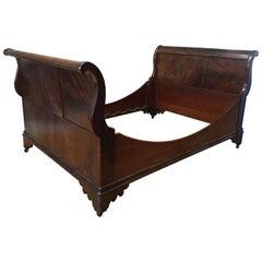 English/Scottish Antique Flame Mahogany Full Bed
