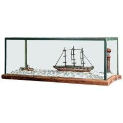 English Scratch Built Nautical Folk Art Diorama Display