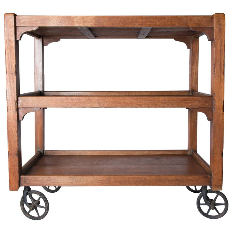 English Serving Cart For Sale