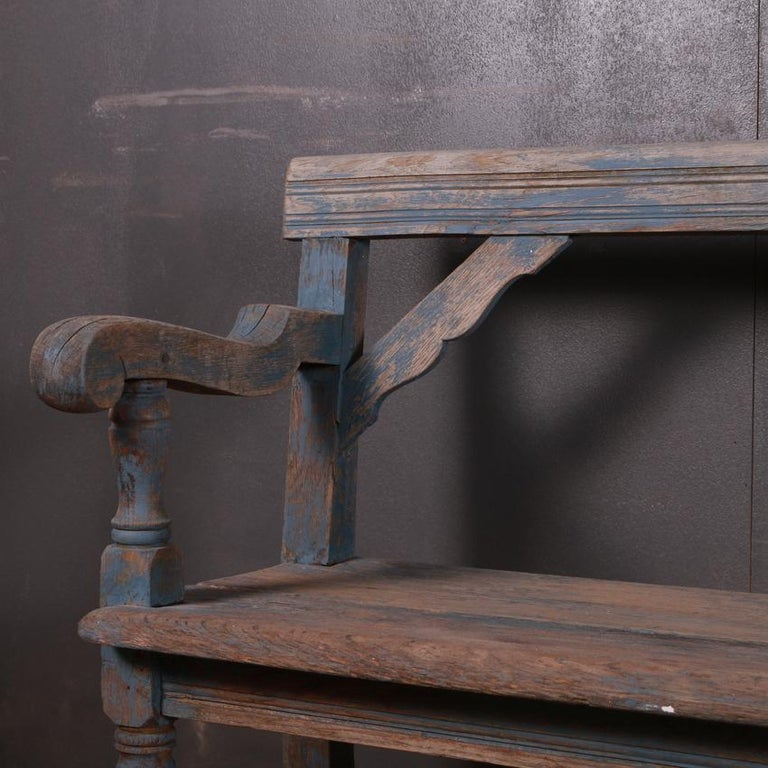 Bleached English Settle/Bench For Sale
