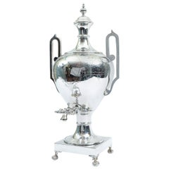 English Sheffield Regency Silver Plated Footed Samovar
