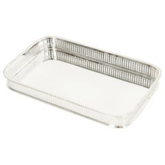 English Sheffield Silver Plated Barware / Tableware Footed Tray