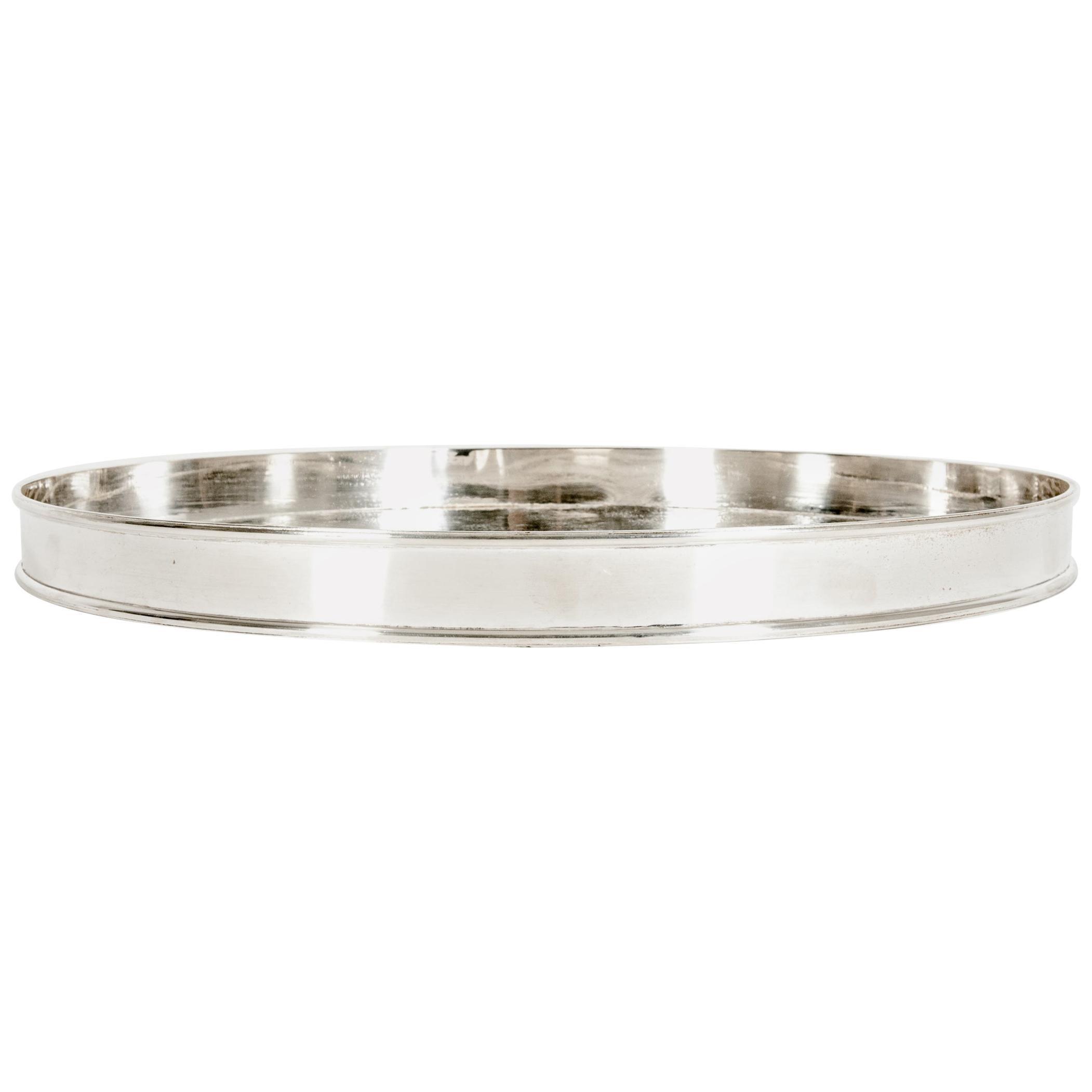 English Sheffield Silver Plated Barware / Tableware Tray