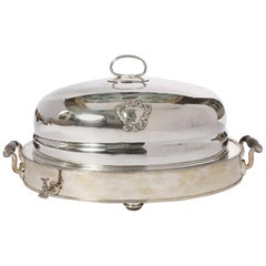 English Sheffield Silver Plated Meat Dome Service Set