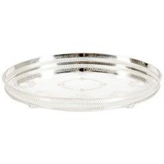 English Sheffield Silver Plated Oval Barware / Tableware Tray