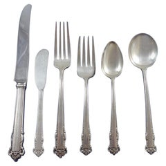 English Shell by Lunt Sterling Silver Flatware Service for Eight Set 55 Pieces