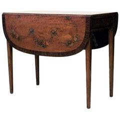English Sheraton Polychromed Pembroke End Table