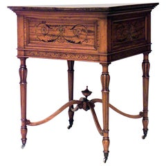 English Sheraton Style '19th Century' Cellarette End Table