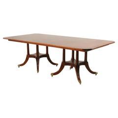 English Sheraton Style Rectangular Mahogany Conference/Dining Table