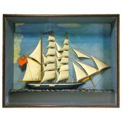 English Ship Diorama